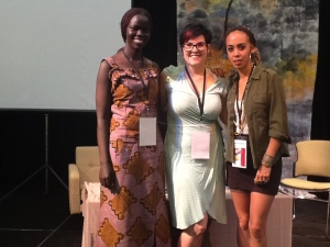 Jane, Jess and Natalie on a body image panel at Women of the World Festival 2013