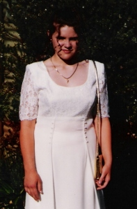 Alysha, aged 12 attending a school formal.