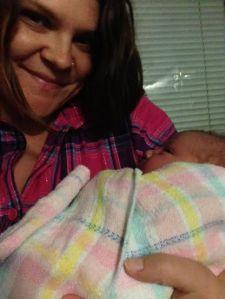 Alysha with daughter Amaya